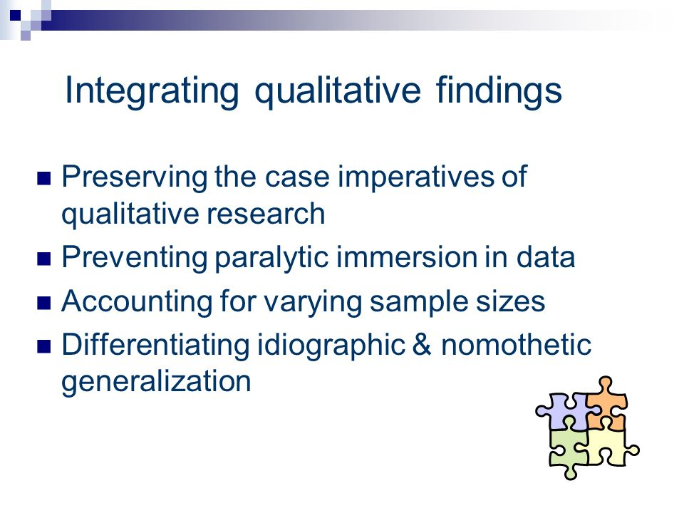 Integrating qualitative findings