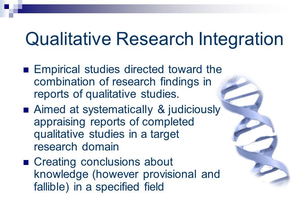 Qualitative Research Integration