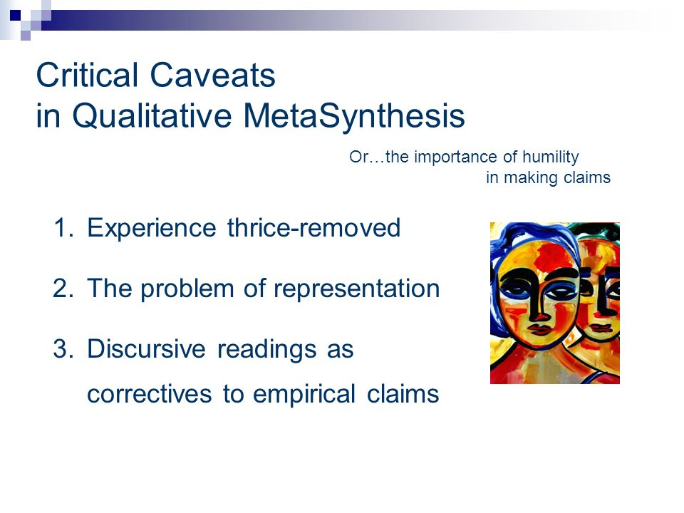 Critical Caveats in Qualitative MetaSynthesis