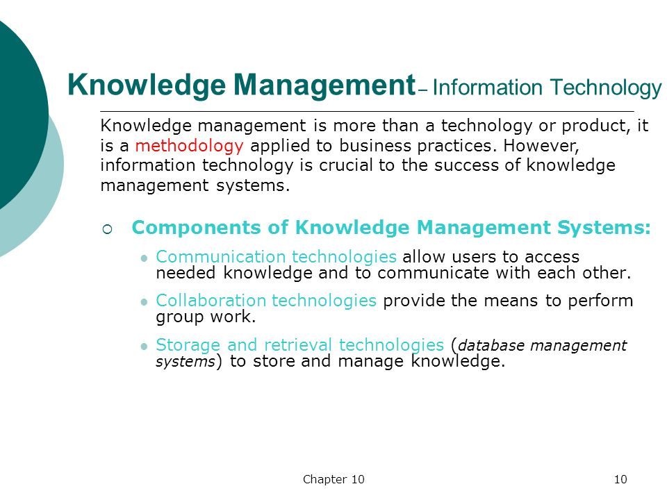 components of knowledge management pdf