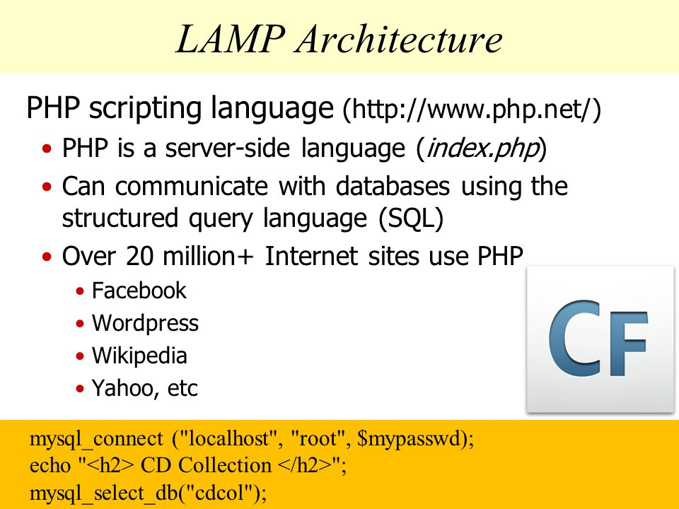 lamp in php