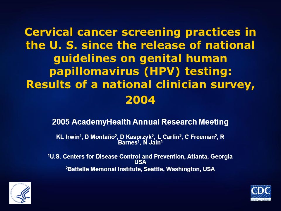 Cervical cancer screening practices in the U. S