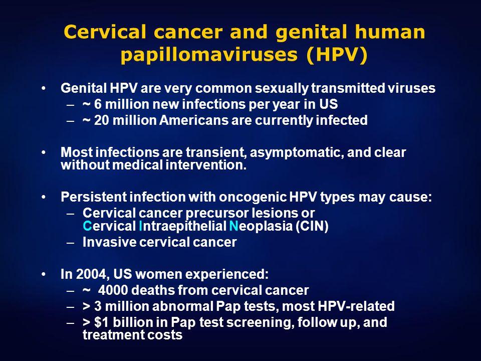 Cervical cancer and genital human papillomaviruses (HPV)