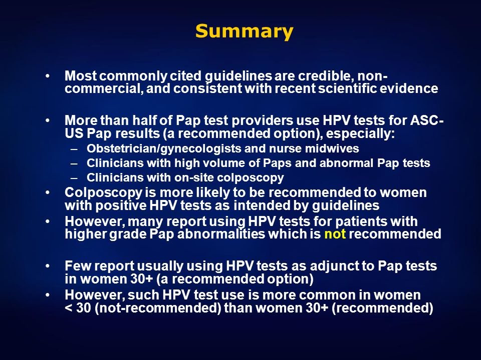 Summary Most commonly cited guidelines are credible, non-commercial, and consistent with recent scientific evidence.