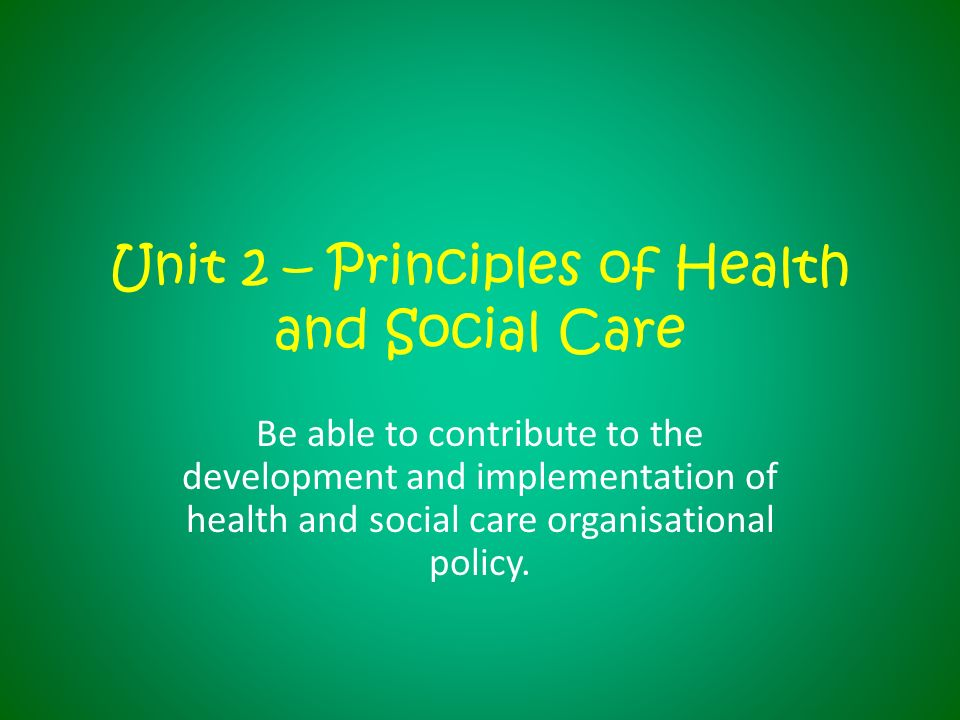 unit 305 health and social care