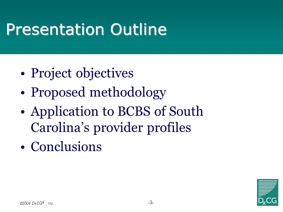 Presentation Outline Project objectives Proposed methodology