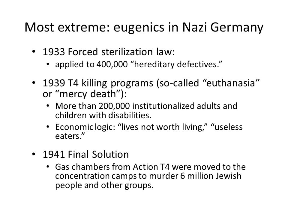 History of Eugenics and Disability - ppt download