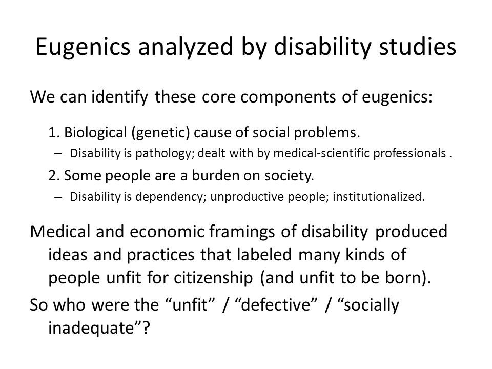 Eugenics, Race, & Immigration Restriction