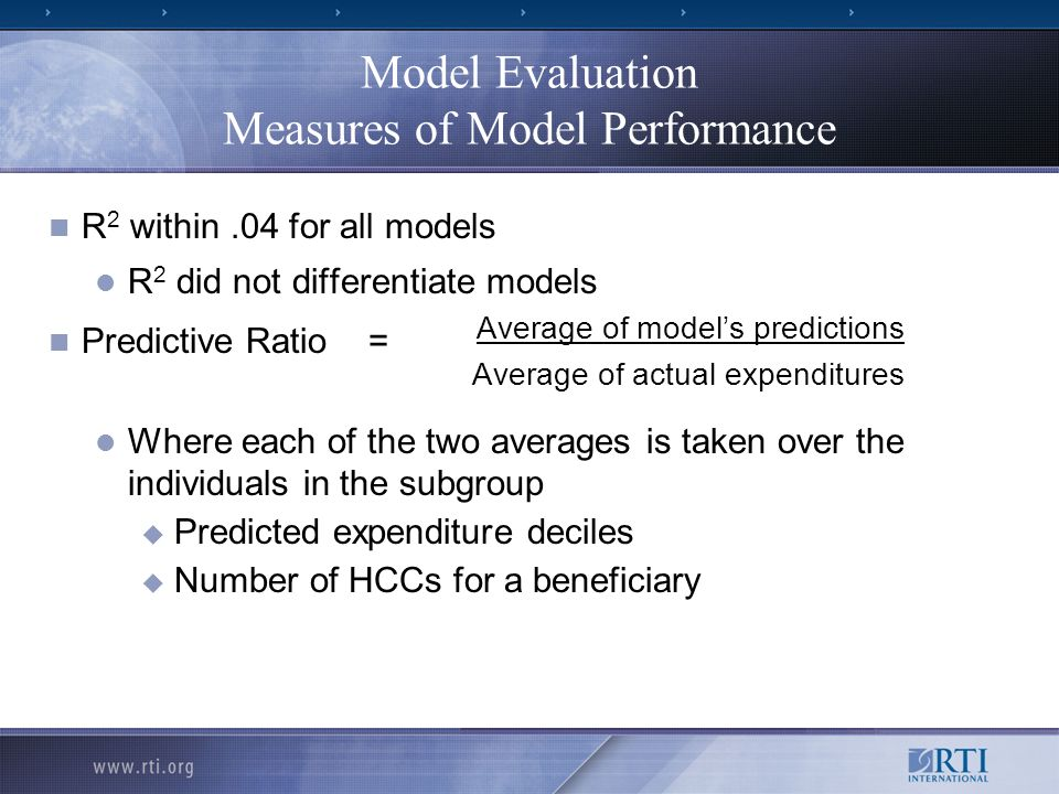 Model Evaluation Measures of Model Performance