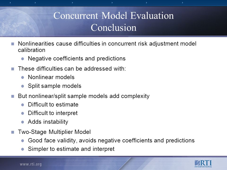 Concurrent Model Evaluation Conclusion
