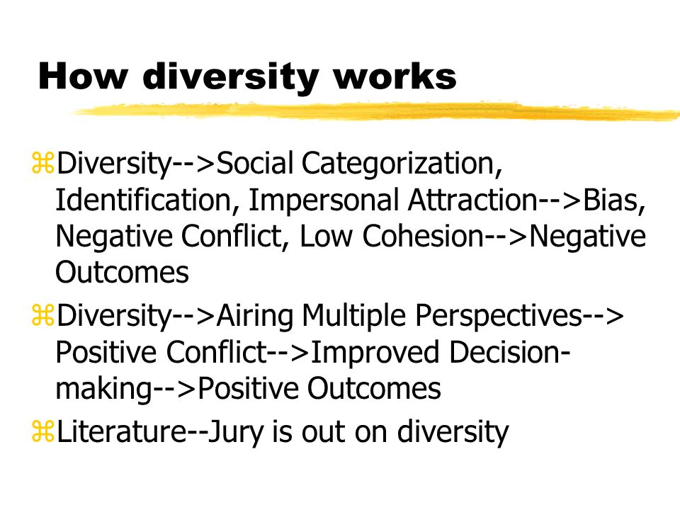 How diversity works