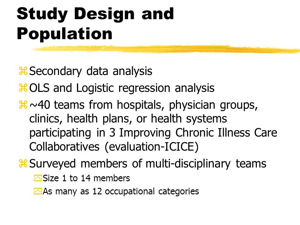 Study Design and Population
