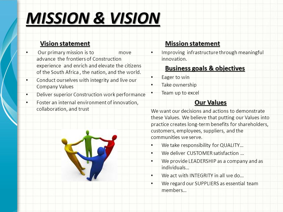 Wa road construction company profile ppt video online for Mission essential contractor services plan template