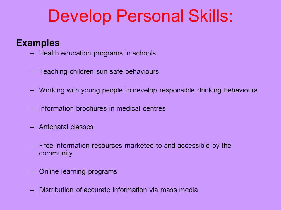 personal skills examples