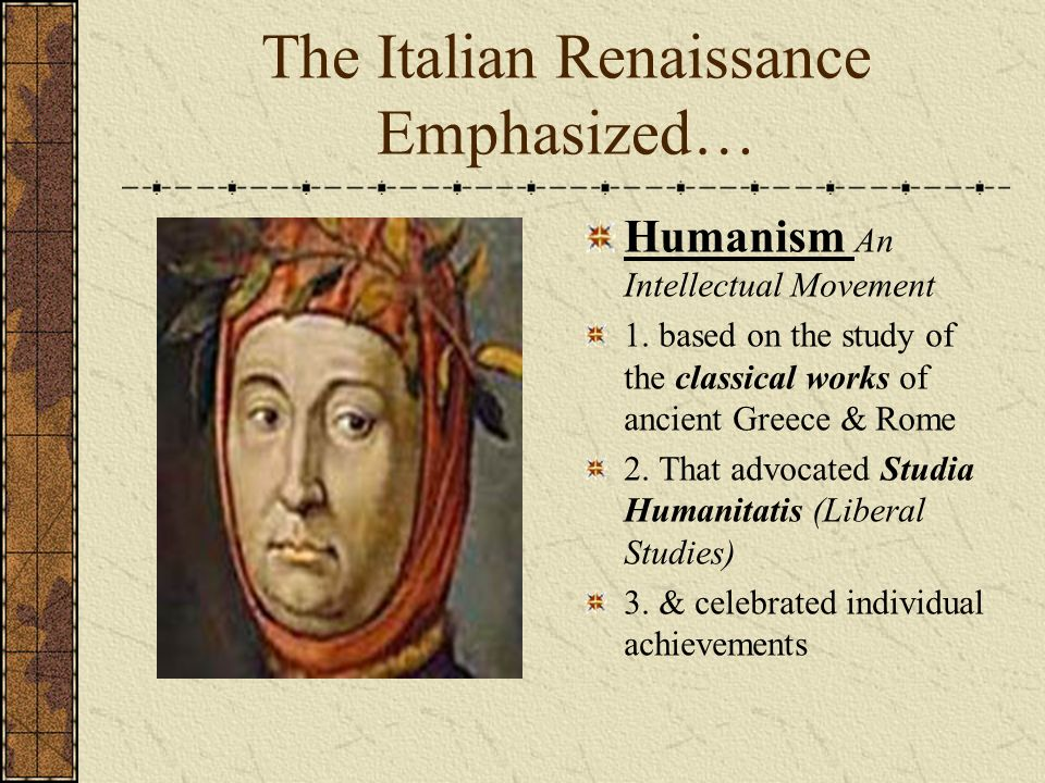 the importance of the classics of greece and rome to the renaissance artists History of the renaissance including the  (exemplified by greece and rome)  this blending of the old and the new rome, using the classical tradition in the.