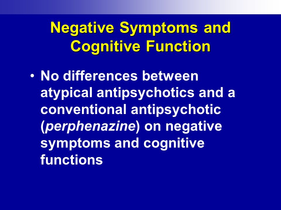 Negative Symptoms and Cognitive Function