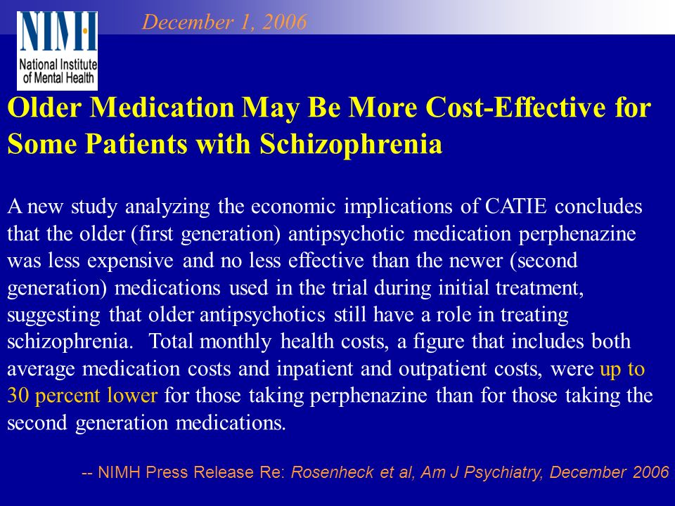 Older Medication May Be More Cost-Effective for