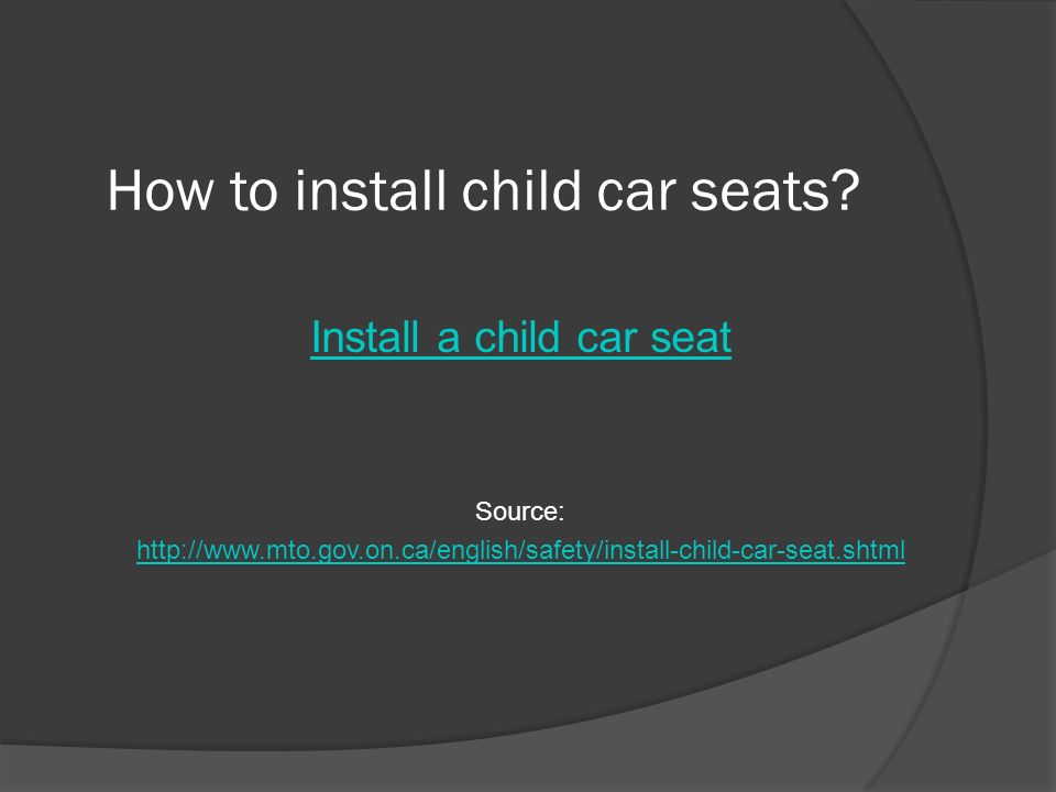 Transportation Canada Car Seat Expiry