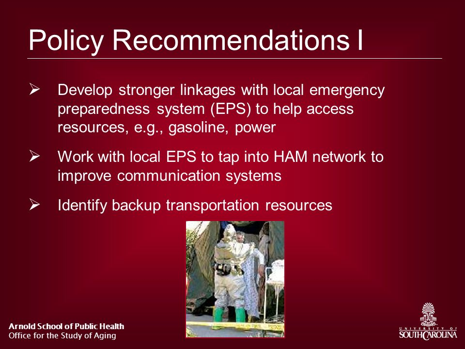 Policy Recommendations I
