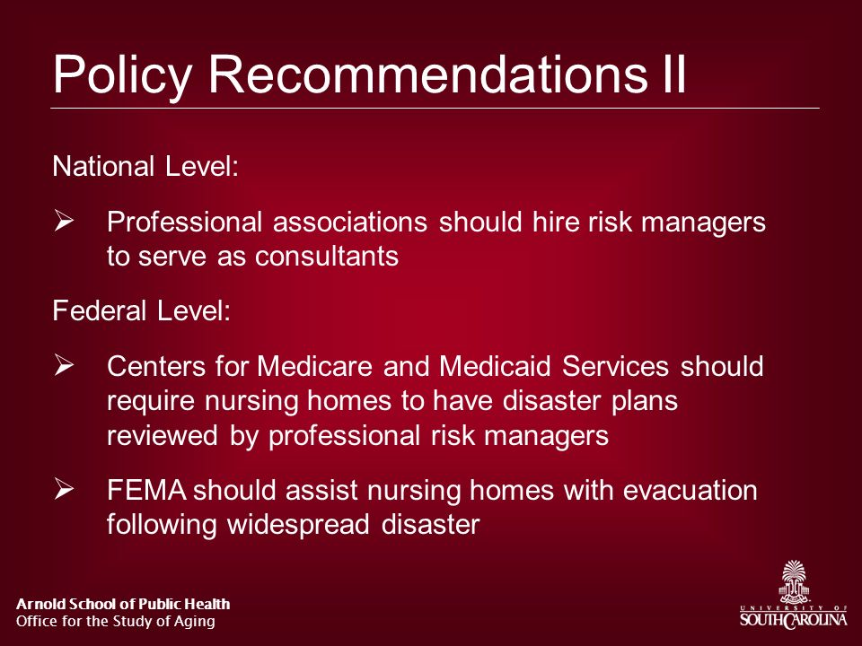 Policy Recommendations II