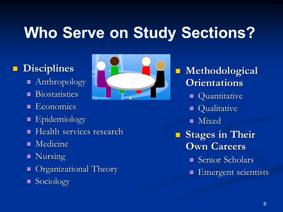 Who Serve on Study Sections
