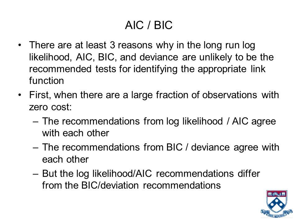 AIC / BIC