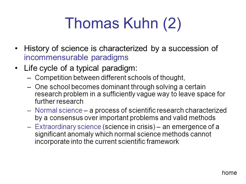 an analysis of thomas kuhns paradigm theoretical research framework The structure of scientific revolutions by thomas s kuhn this paradigm-based research is an attempt to in early stages of a paradigm, such theoretical.