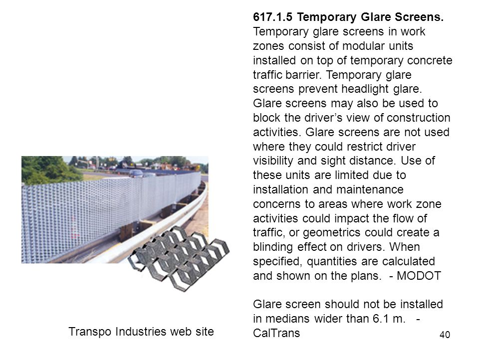 Temporary Construction Screens : Work zone traffic control ppt download