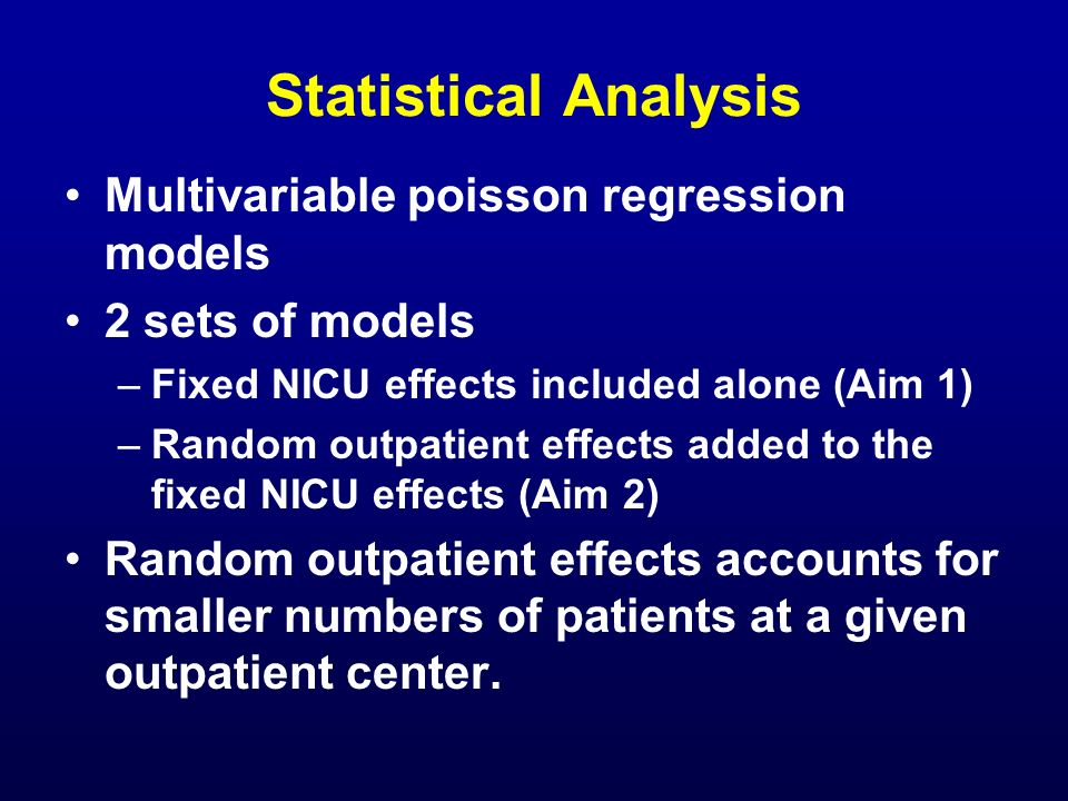 Statistical Analysis Multivariable poisson regression models