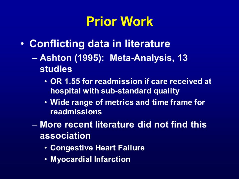 Prior Work Conflicting data in literature