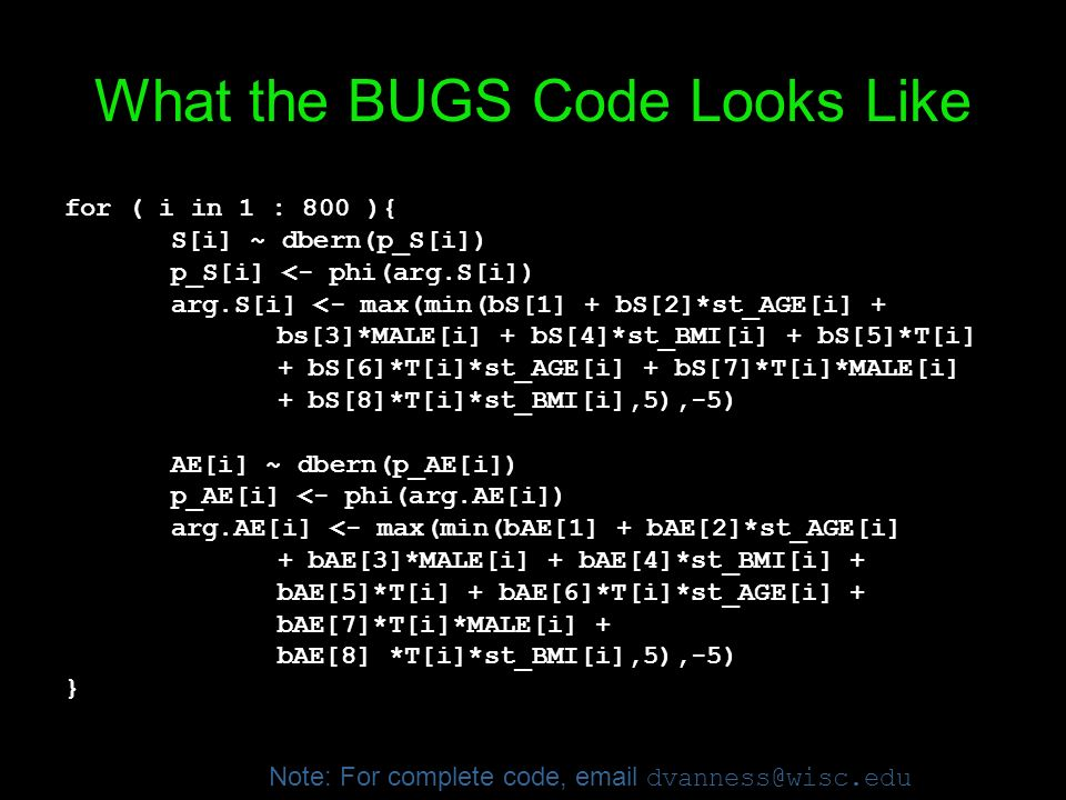 What the BUGS Code Looks Like