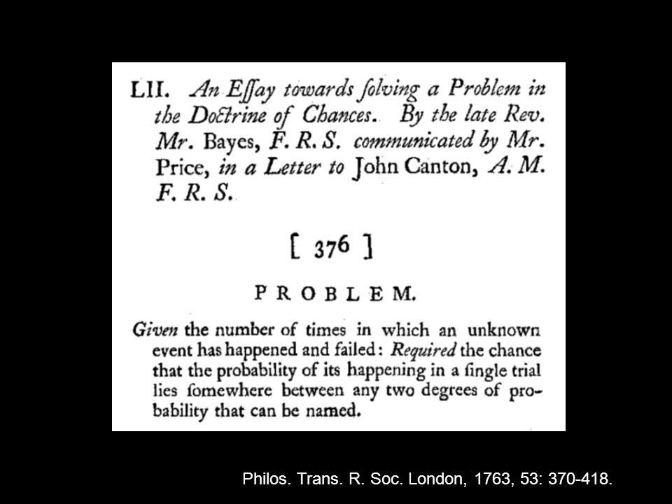 Philos. Trans. R. Soc. London, 1763, 53: 370-418.