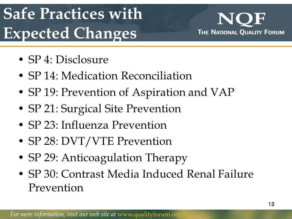 Safe Practices with Expected Changes