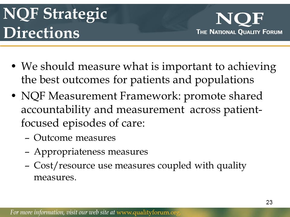 NQF Strategic Directions