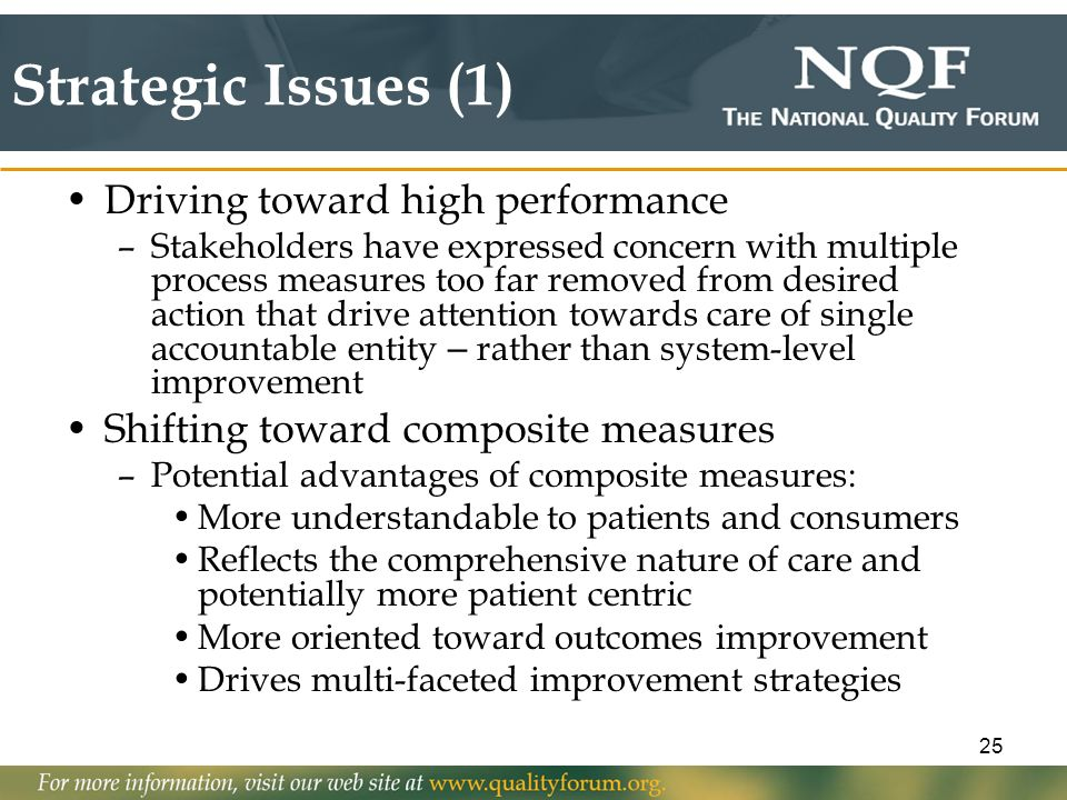 Strategic Issues (1) Driving toward high performance