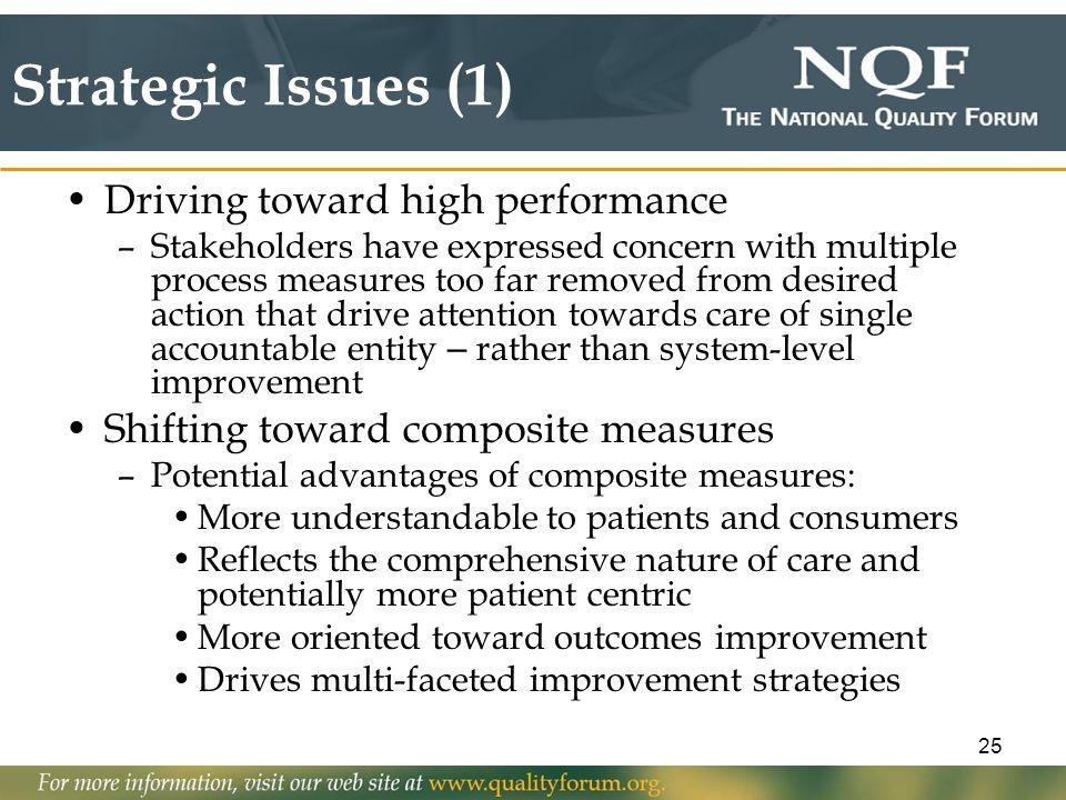 Strategic Issues (1) Driving toward high performance