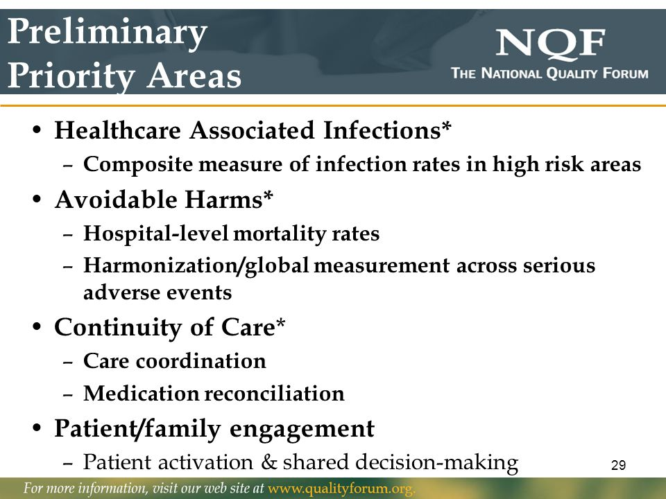 Preliminary Priority Areas