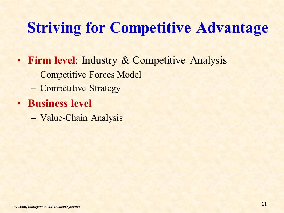 competitive advantage within an organization Competitive advantage when a firm sustains profits that exceed the average for its industry, the firm is said to possess a competitive advantage over its rivals the goal of much of business strategy is to achieve a sustainable competitive advantage.