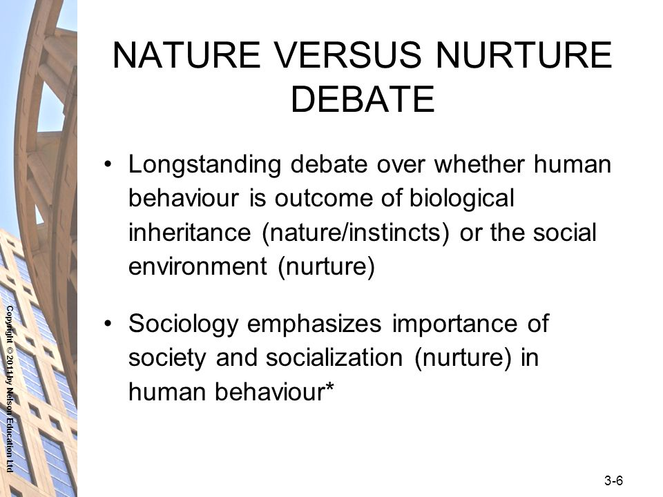 nurture the nature essay Read nature vs nurture free essay and over 88,000 other research documents nature vs nurture nature vs nurture through time, psychologists have argued over whether only our genes control our behaviors in life or if.