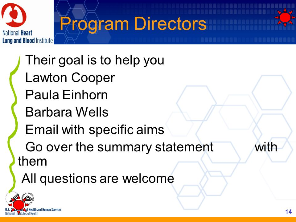 Program Directors Their goal is to help you Lawton Cooper