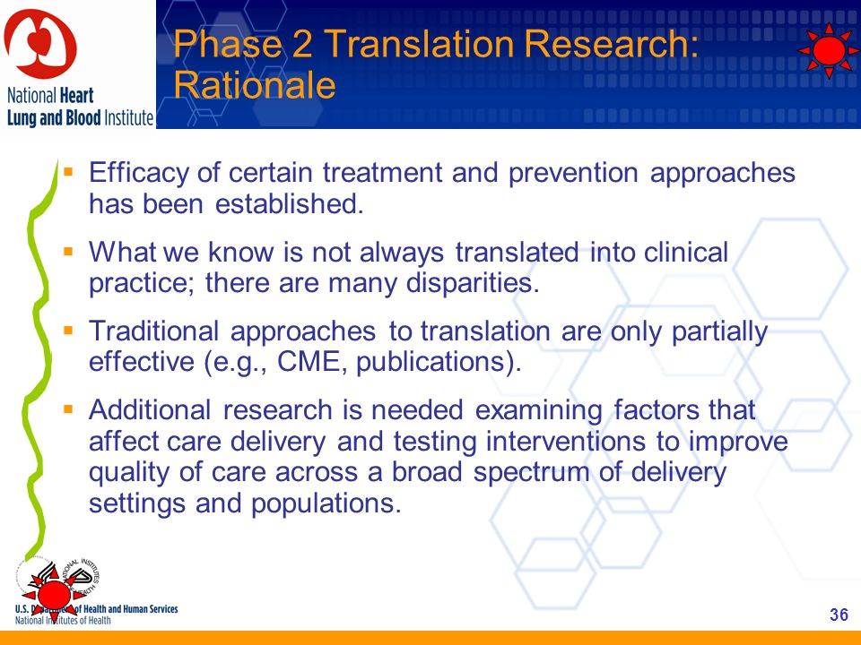 Phase 2 Translation Research: Rationale