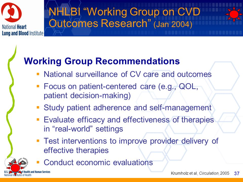 NHLBI Working Group on CVD Outcomes Research (Jan 2004)