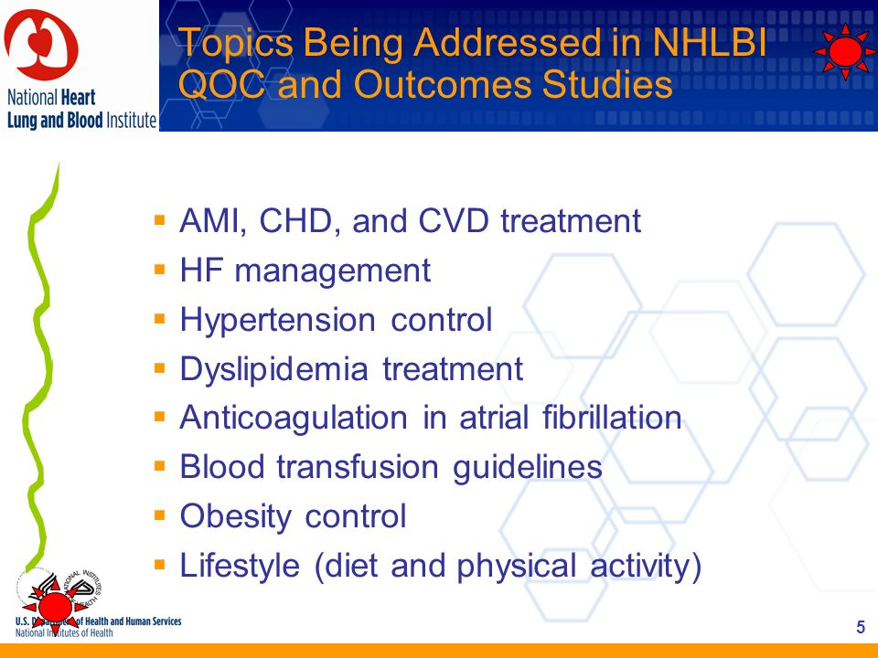Topics Being Addressed in NHLBI QOC and Outcomes Studies