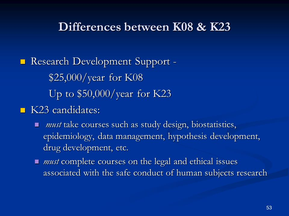 Differences between K08 & K23