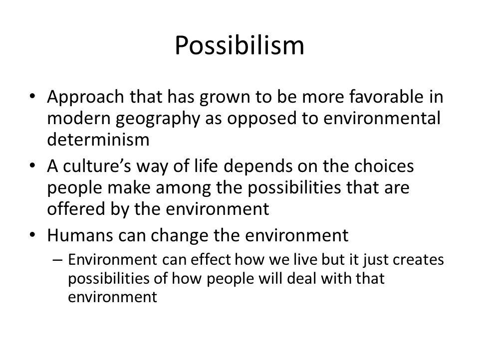 possibilism example