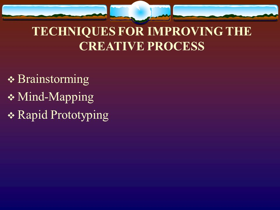 the creative process and techniques in photography What we refer to as the creative process can be broken down into four distinct stages-- preparation, incubation, illumination, and implementation &checkmark start here photo tips.