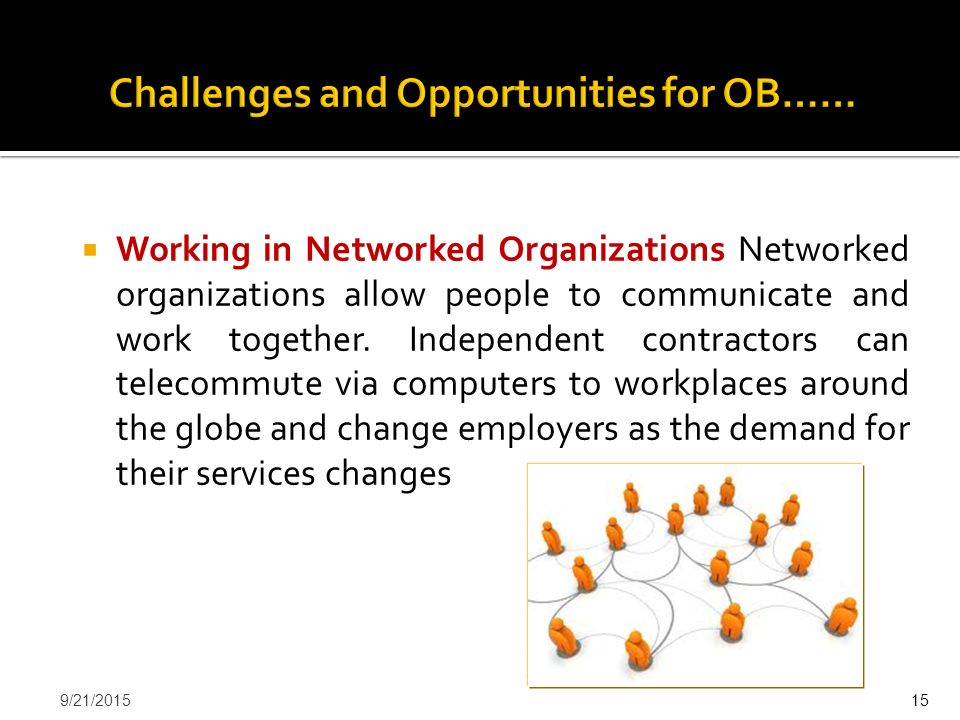 Challenges and Opportunities for OB……