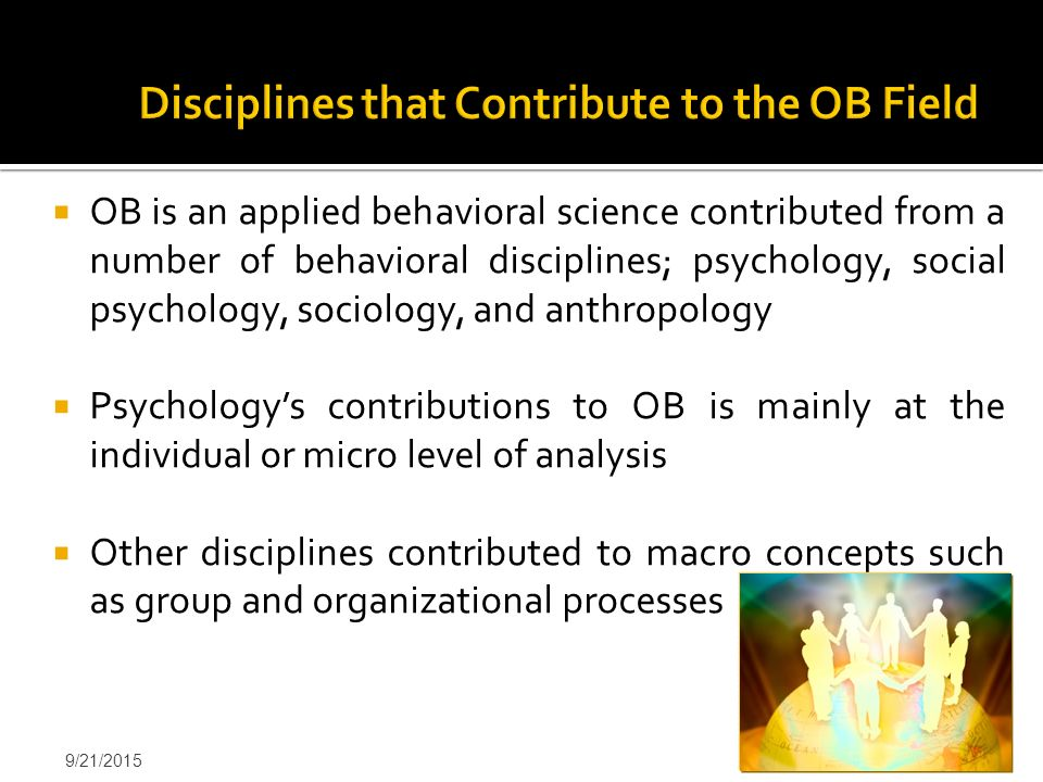 Disciplines that Contribute to the OB Field