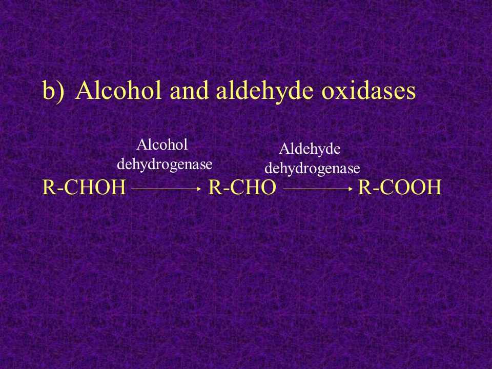Alcohol and aldehyde oxidases