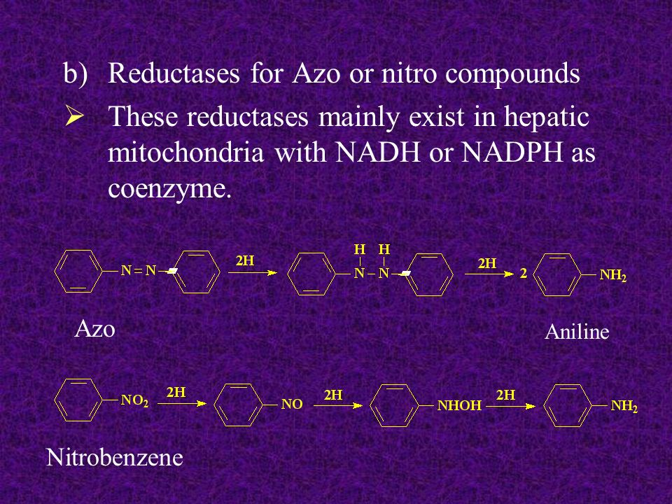 Reductases for Azo or nitro compounds